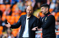 Milton Keynes Dons manager Paul Tisdale gestures<br /> <br /> Photographer Alex Dodd/CameraSport<br /> <br /> The EFL Sky Bet League One - Blackpool v MK Dons  - Saturday September 14th 2019 - Bloomfield Road - Blackpool<br /> <br /> World Copyright © 2019 CameraSport. All rights reserved. 43 Linden Ave. Countesthorpe. Leicester. England. LE8 5PG - Tel: +44 (0) 116 277 4147 - admin@camerasport.com - www.camerasport.com