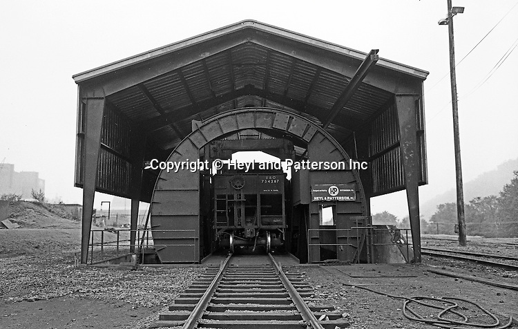 Client: Heyl and Patterson Company<br /> Ad Agency: Heyl and Patterson Marketing<br /> Product: Coal Handling and Processing Equipment<br /> Location: New Florence PA:<br /> <br /> Rotary car dumper is ready to turn railroad car with coal at the Conemaugh Power Plant. Founded in 1887, Heyl &amp; Patterson is a leader in the design and construction of bulk transfer and thermal processing equipment for customers in a wide range of industries, including chemical, steel, biomass, energy, ports, and mining &amp; minerals.