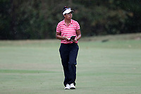CHAPEL HILL, NC - OCTOBER 13: Aneka Seumanutafa of the Ohio State University at UNC Finley Golf Course on October 13, 2019 in Chapel Hill, North Carolina.