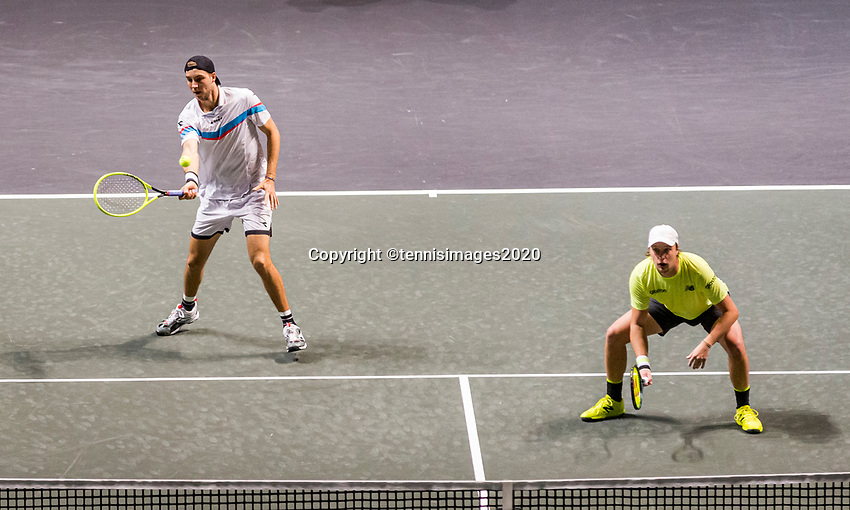 Rotterdam, The Netherlands, 14 Februari 2020, ABNAMRO World Tennis Tournament, Ahoy, Doubles: Henri Kotinen (FIN) and Jan-Lennard Struff (GER).<br /> Photo: www.tennisimages.com