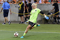Houston, TX - Saturday July 08, 2017: Jane Campbell warming up prior to a regular season National Women's Soccer League (NWSL) match between the Houston Dash and the Portland Thorns FC at BBVA Compass Stadium.