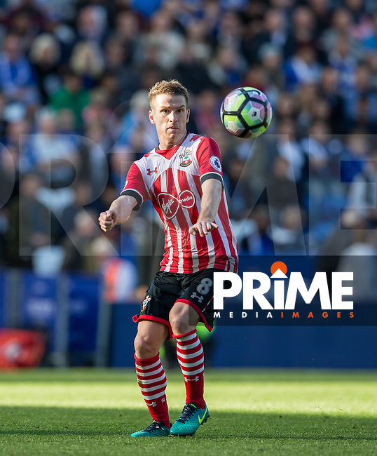 Steven Davis of Southampton during the Premier League match between Leicester City and Southampton at the King Power Stadium, Leicester, England on 2 October 2016. Photo by Andy Rowland.