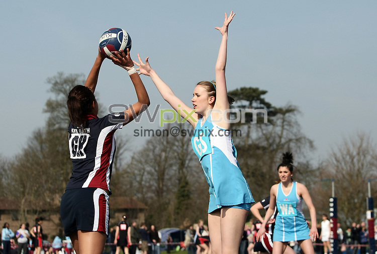 PICTURE BY VAUGHN RIDLEY/SWPIX.COM - Netball - England Netball National Schools Finals - Oundle School, Northamptonshire, England - 21/03/09...Copyright - Simon Wilkinson - 07811267706...U19 Champions Cardinal Newman.