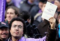 Manifestazione indetta dal Popolo Viola in difesa della Costituzione a Roma, 30 gennaio 2010..UPDATE IMAGES PRESS/Riccardo De Luca