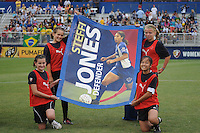 Banner from former Player form the Washington Freedom Steffi Jones   The LA Sol defeated the Washington Freedom 1-0 at the Maryland Soccerplex, Sunday July 5, 2009.