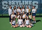 4-10-19, Skyline High School girl's varsity tennis team