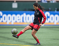 Seattle, WA - Saturday Aug. 27, 2016: Jennifer Skogerboe prior to a regular season National Women's Soccer League (NWSL) match between the Seattle Reign FC and the Portland Thorns FC at Memorial Stadium.