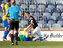 BRIAN GRAHAM SCORES RAITH'S FIRST GOAL.