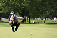 Charl Schwartzel (RSA) lines up his putt on the 10th green during Saturday's Round 3 of the WGC Bridgestone Invitational 2017 held at Firestone Country Club, Akron, USA. 5th August 2017.<br /> Picture: Eoin Clarke | Golffile<br /> <br /> <br /> All photos usage must carry mandatory copyright credit (&copy; Golffile | Eoin Clarke)