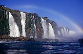Iguassu, Brazil. The Iguassu falls with rainbow.