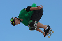 17 August, 2012:  Paul-luc Ronchetti competes in the Skateboard Vert semi-final at the Pantech Beach Championships in Ocean City, MD.