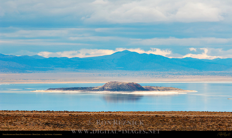 Negit Island from Tioga Pass in Autumn, Mono Lake, Lee Vining, California