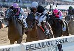 June 8, 2019 : #7, Sir Winston, ridden by jockey Joel Rosario, wins the 151st Belmont Stakes on Belmont Stakes Festival Saturday at Belmont Park in Elmont, New York. Scott Serio/Eclipse Sportswire/CSM