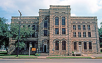 Gonzales:  Central Square, Old County Jail.  Photo '80.