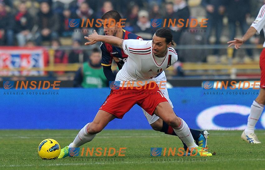 "Zlatan IBRAHIMOVIC (Milan).Bologna 11/12/2011 Stadio ""Renato Dall Ara"".Serie A 2011/2012.Football Calcio Bologna Vs Milan.Foto Insidefoto Alessandro Sabattini."