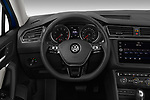 Car pictures of steering wheel view of a 2019 Volkswagen Tiguan SE  5 Door SUV