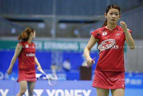 Ayaka Takahashi (JPN), June 15, 2014 - Badminton : Yonex Open Japan 2014 Women's Doubles final at Tokyo Metropolitan Gymnasium, Tokyo, Japan. (Photo by Yusuke Nakanishi/AFLO SPORT) [1090]