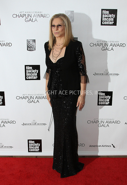 WWW.ACEPIXS.COM....April 22 2013, New York City....Barbra Streisand arriving at the 40th Anniversary Chaplin Award Gala at Avery Fisher Hall at the Lincoln Center on April 22, 2013 in New York City.....By Line: Zelig Shaul/ACE Pictures......ACE Pictures, Inc...tel: 646 769 0430..Email: info@acepixs.com..www.acepixs.com
