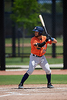 Houston Astros Cesar Salazar (94) bats during a Minor League Spring Training Intrasquad game on March 28, 2019 at the FITTEAM Ballpark of the Palm Beaches in West Palm Beach, Florida.  (Mike Janes/Four Seam Images)