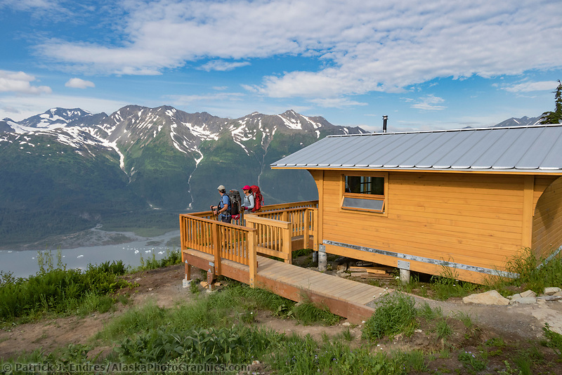 Spencer Bench Cabin in the Chugach National Forest, Kenai Peninsula, Alaska.