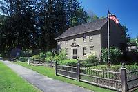 AJ1423, Stockbridge, Massachusetts, The Berkshires, Mission House in Stockbridge, Massachusetts in the spring.