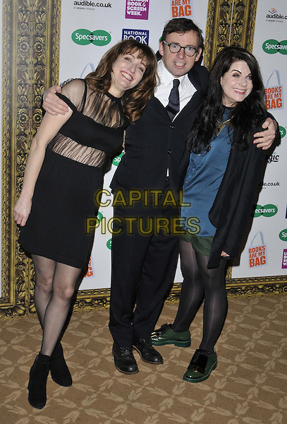LONDON, ENGLAND - NOVEMBER 26: Viv Albertine, David Nicholls &amp; Caitlin Moran attend the Specsavers National Book Awards 2014, Foreign &amp; Commonwealth Office, King Charles St., on Wednesday November 26, 2014 in London, England, UK. <br /> CAP/CAN<br /> &copy;Can Nguyen/Capital Pictures