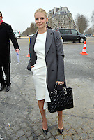 Celebs attend the Dior fashion show in Paris - France