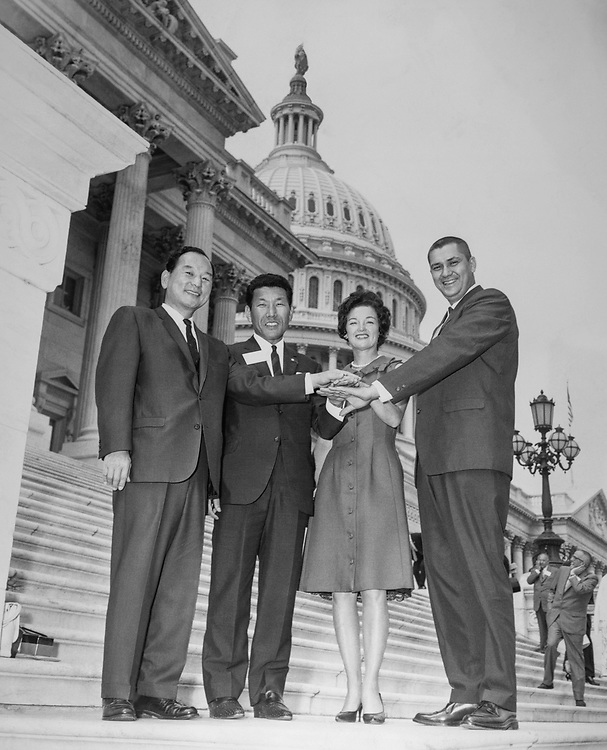 Congressional aide Hyde Murray with staff members on Capitol Hill. (Photo by CQ Roll Call via Getty Images)