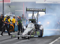 Apr 21, 2018; Baytown, TX, USA; NHRA top fuel driver Brittany Force during qualifying for the Springnationals at Royal Purple Raceway. Mandatory Credit: Mark J. Rebilas-USA TODAY Sports
