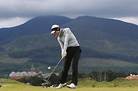 Elena Arias Quiros (ESP) on the 2nd tee during Round 1 of the Women's Amateur Championship at Royal County Down Golf Club in Newcastle Co. Down on Tuesday 11th June 2019.<br /> Picture:  Thos Caffrey / www.golffile.ie<br /> <br /> All photos usage must carry mandatory copyright credit (© Golffile | Thos Caffrey)