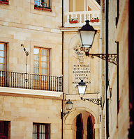 Architecture detail in Oviedo, Asturias, Spain