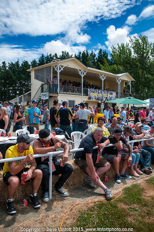 Fans wait for kickoff during the Super Rugby match between the Hurricanes and Crusaders at Eketahuna, New Zealand on Saturday, 31 January 2015. Photo: Dave Lintott / lintottphoto.co.nz