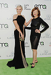 BURBANK, CA- OCTOBER 18: Actresses Francesca Eastwood (L) and mother Frances Fisher arrive at the 2014 Environmental Media Awards at Warner Bros. Studios on October 18, 2014 in Burbank, California.
