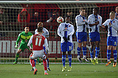 15/03/2016 Sky Bet League 1 Fleetwood Town v Walsall<br /> Wes Burns free kick sails over the bar