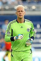 Jimmy Nielsen Sporting KC goalkeeper... Sporting KC defeated Vancouver Whitecaps 2-1 at LIVESTRONG Sporting Park, Kansas City, Kanas.