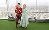 Dick Whittington <br /> publicity pictures <br /> taken from The View From The Shard, London Bridge Quarter, London, Great Britain <br /> press photocall <br /> 17th November 2016 <br /> <br /> <br /> <br /> Sam Hallion as Dick Whittington <br /> <br /> Alice Fitzwarren as Grace Chapman <br /> <br /> <br /> <br /> Photograph by Elliott Franks <br /> Image licensed to Elliott Franks Photography Services