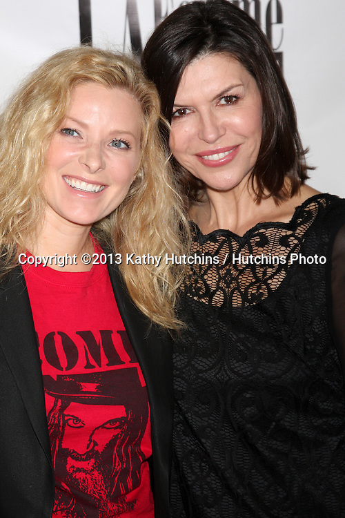 """LOS ANGELES - OCT 19:  Cady McClain, Finola Hughes at the """"The Bet"""" Screening at Le Femme Film Festival at Regal 14 Theaters on October 19, 2013 in Los Angeles, CA"""