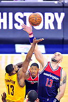 Marcin Gortat wins the tip-off during a game at the Verizon Center in Washington, D.C. on Monday, February 6, 2017.  Alan P. Santos/DC Sports Box