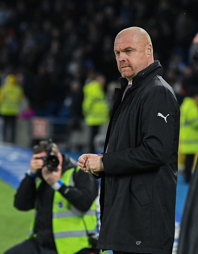 Burnley manager Sean Dyche <br /> <br /> Photographer David Horton/CameraSport<br /> <br /> The Premier League - Brighton and Hove Albion v Burnley - Saturday 9th February 2019 - The Amex Stadium - Brighton<br /> <br /> World Copyright © 2019 CameraSport. All rights reserved. 43 Linden Ave. Countesthorpe. Leicester. England. LE8 5PG - Tel: +44 (0) 116 277 4147 - admin@camerasport.com - www.camerasport.com