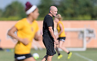 Houston, TX - Friday Oct. 07, 2016: Paul Riley during training prior to the National Women's Soccer League (NWSL) Championship match between the Washington Spirit and the Western New York Flash at BBVA Compass Stadium.