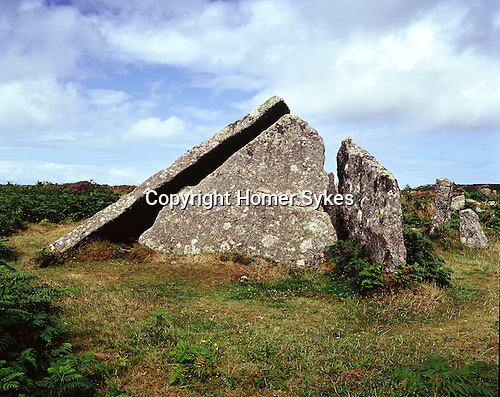 Zennor Quoit, Zennor Cornwall. Celtic Britain published by Orion. A Neolithic tomb now runious, in use at least 1,500 BC.