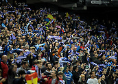 30th October 2017, Cornella-El Prat, Cornella de Llobregat, Barcelona, Spain; La Liga football, Espanyol versus Real Betis; RCD Espanyol supporters celebrating their goal