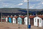 Casas do pelo Projeto Minha Casa Minha Vida . obras do PAC em Pesqueira. Sertao do Pajeu. Pernambuco. 2013. Foto de Rogerio Reis.