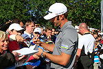 Dustin Johnson (USA) signs autographs at the end of Day 2 of the BMW International Open at Golf Club Munchen Eichenried, Germany, 24th June 2011 (Photo Eoin Clarke/www.golffile.ie)