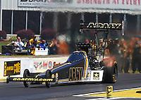 May 14, 2016; Commerce, GA, USA; NHRA top fuel driver Tony Schumacher during qualifying for the Southern Nationals at Atlanta Dragway. Mandatory Credit: Mark J. Rebilas-USA TODAY Sports