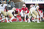 Wisconsin Badgers quarterback Alex Hornibrook (12) during an NCAA College Football Big Ten Conference game against the Purdue Boilermakers Saturday, October 14, 2017, in Madison, Wis. The Badgers won 17-9. (Photo by David Stluka)