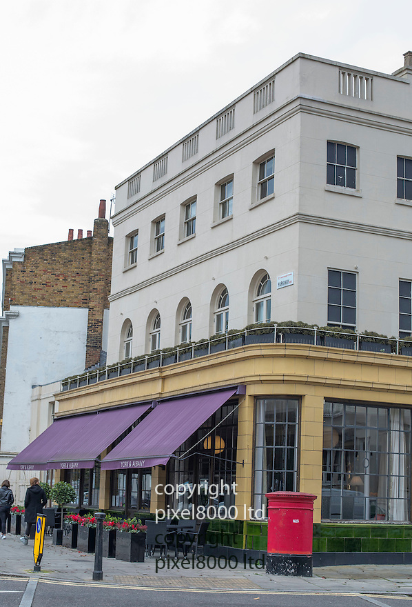 Pic shows: York &amp; Albany pub and restaurant in Parkway, Camden - near Regents Park.<br /> <br /> Site of premises that are subject to dispute between Gordon Ramsay and Gary Love,<br /> <br /> See copy from High Court London<br /> <br /> <br /> <br /> <br /> picture by Gavin Rodgers/ Pixel