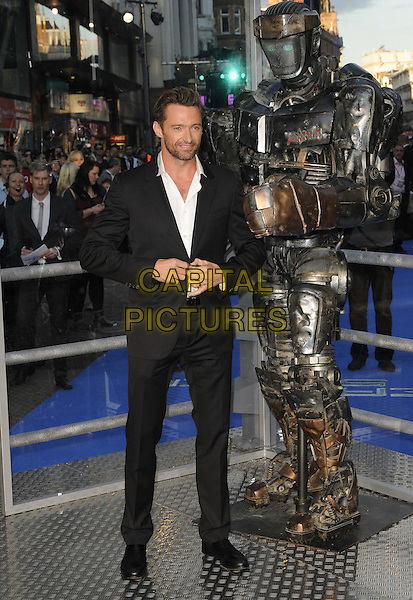 "HUGH JACKMAN .""Real Steel"" - UK film premiere held at the Empire Leicester Square - Arrivals..London, England..September 14th, 2011.full length stubble black suit jacket beard facial hair white  .CAP/CAN.©Can Nguyen/Capital Pictures."
