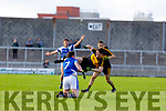 Kieran O'Leary  Dr Crokes in action against Ryan Carroll  Kerins O'Rahillys in the Kerry Senior Football County Championship Semi Final between Dr Crokes and Kerins O'Rahillys at Austin Stack Park on Sunday.
