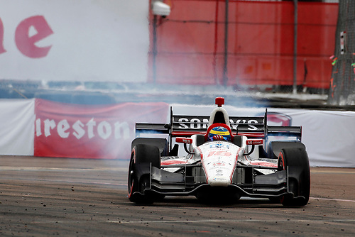 2017 Verizon IndyCar Series - Firestone Grand Prix of St. Petersburg<br /> St. Petersburg, FL USA<br /> Sunday 12 March 2017<br /> Sebastien Bourdais celebrates with donuts<br /> World Copyright: Phillip Abbott/LAT Images<br /> ref: Digital Image lat_abbott_stp_0317_13062